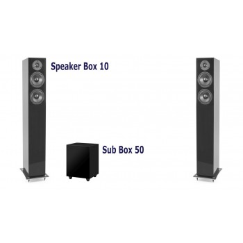 Speaker Box 10 + Sub Box 50 (black hight glossy)