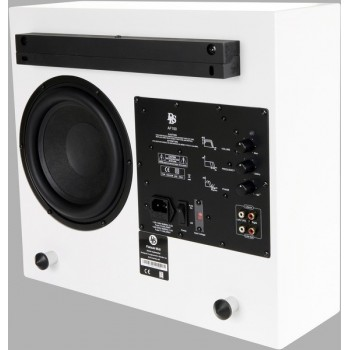 "Flatsub Midi, active wall sub 8"", white silk"