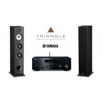 Stereo set Yamaha R-N602 & Triangle BR08