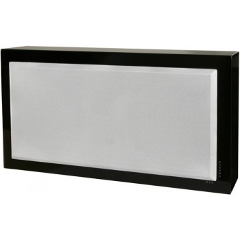 Flatsub Stereo-One, act. wall sub, black piano