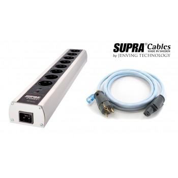 Vairāku kontaktligzdu strāvas filtrs + strāvas kabelis